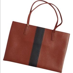 New Vince Camuto Brown Vegan Leather Tote Bag